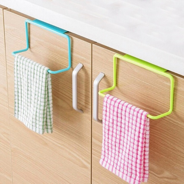Aliexpress.com : Buy Over Door Tea Towel Rack Bar Hanging Holder ...