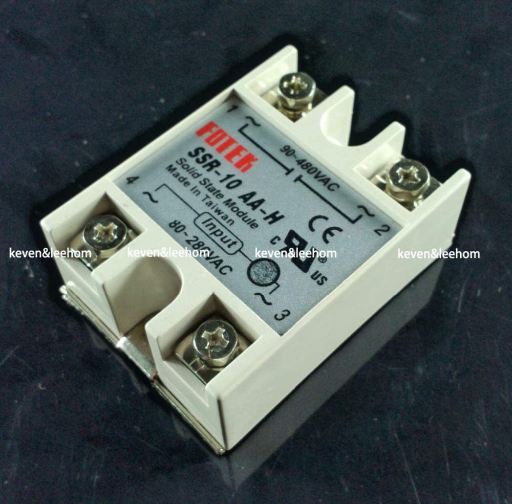 solid state relay SSR-10AA-H 10A actually 80-250V AC TO 90-480V AC SSR 10AA H relay solid state Resistance Regulator ssr 80aa ac output solid state relays 90 280v ac to 24 480v ac single phase solid relay module rele 12v 80a ks1 80aa