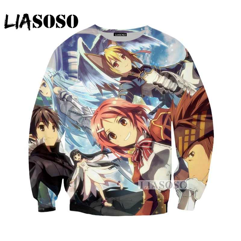 LIASOSO NUOVO Anime Spada Arte Online Tees 3D Stampa T-Shirt/Hoodie/Felpa Unisex Cosplay Sexy katana kirito T Shirt Top G335