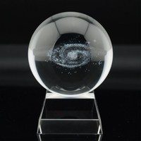 Milky Way Moon Interstellar Crystal Ball Car Interior Decoration Ornaments Gift Office Decorations Home Decoration Accessories