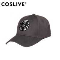 9475f2f08e3ac Coslive Captain Marvel Cap The Shield Cap Gray Comfortable Cotton Hat  Cosplay Accessory Daily Wear Summer