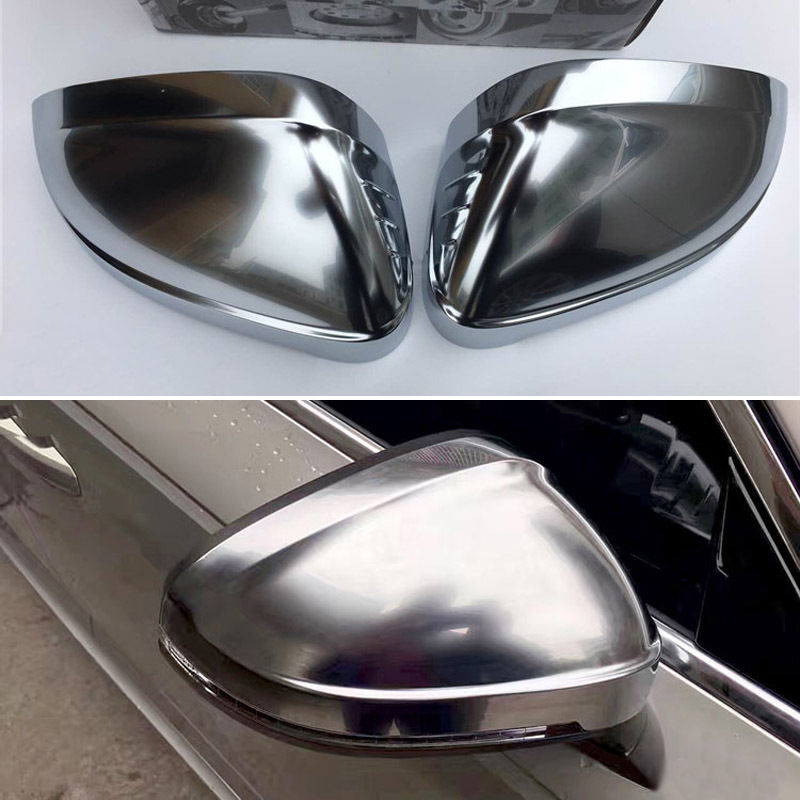 2pcs Silver ABS Chrome Side View Mirrors Replacement Caps