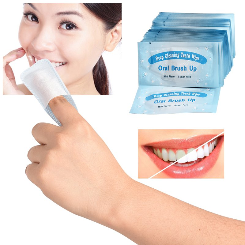 Deep Cieaning Teeth Wipes Dental-tool  Brush Up Finger Wipes Tooth Oral Hygiene Teeth Whitening Teeth Remove Film Tooth Surfaces