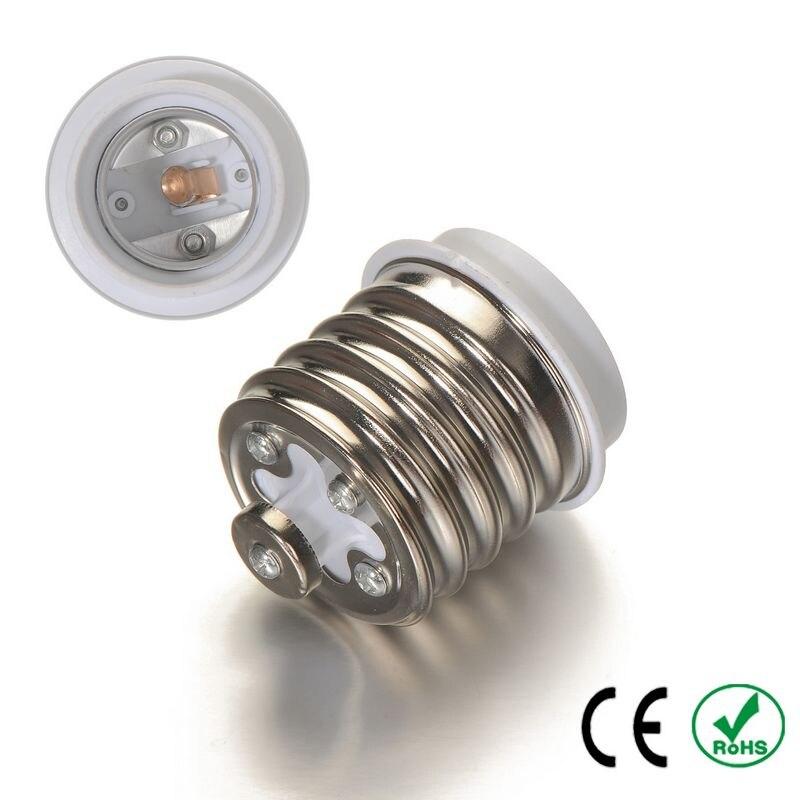 1000pcs E40 To E27 Adapter Lamp Holder Converter Lamp Base Socket Fireproof PBT Copper LED Light Bulb Holder Extender Plug