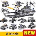 8pcs/lot XBL13007 Playmobil Military Star Wars Spaceship Building LegoBlocks Sets Montessori Brick Boy figure Toys Brinquedos