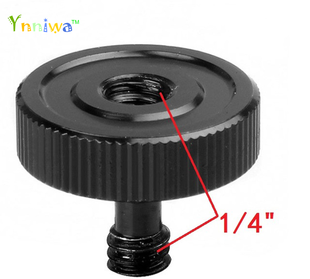 50pcs/lot Black 1/4 Male to 1/4 Female Screw Adapter For Camera Tripod L Type Bracket Stand Holder Hot Sale Best Promotion image