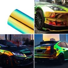 135*60 см Хамелеон стикер для автомобиля s изменение цвета Хромовая виниловая пленка лазерное покрытие автомобиля обертывание наклейка воздушная пленка