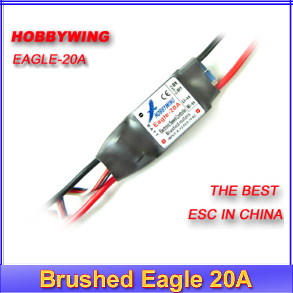100% Brand New Hobbywing brush Brushed Eagle 20A ESC for RC airplane plane 370 380 390 280 270 motor +Register free shipping wholesale 1pcs rc brushed esc 20a brush motor speed controller w brake for rc 1 16 1 18 car boat tank drop free shipping page 7