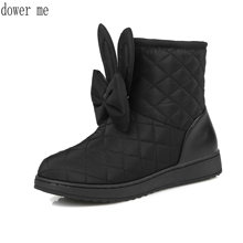 dower me 2017 new women's boots, plush ankle boots, winter snow boots, size 33-40, free of postage