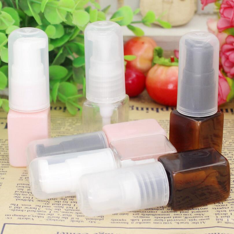500pcs/lot 10ml square Colorful plastic bottles lotion bottle With Press pump For Shampoo shower gel 10 50pcs 18 24r white black clear plastic powder press pump head nozzle for cosmetic lotion emulsion bottle with clear full cap