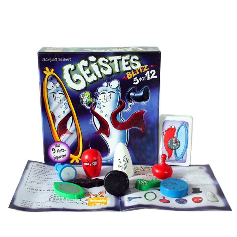 Geistes Blitz 3.0 Geistesblitz 5 vor 12 Board Game with English Instructions Clever dexterity game themed for kids and adults