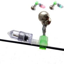 YeMuLang 1 piece LED Night Twin Bell Fishing Accessory Fishing Bell Float Fishing Bite Alarm For Fishing