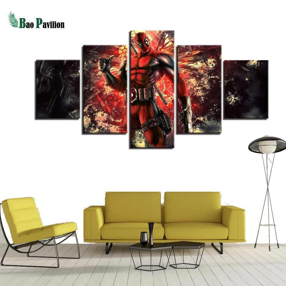 Гостиная печатные HD фотографии 5 панель мертвый фильм современные рамки украшения дома холст живопись плакат стены искусства