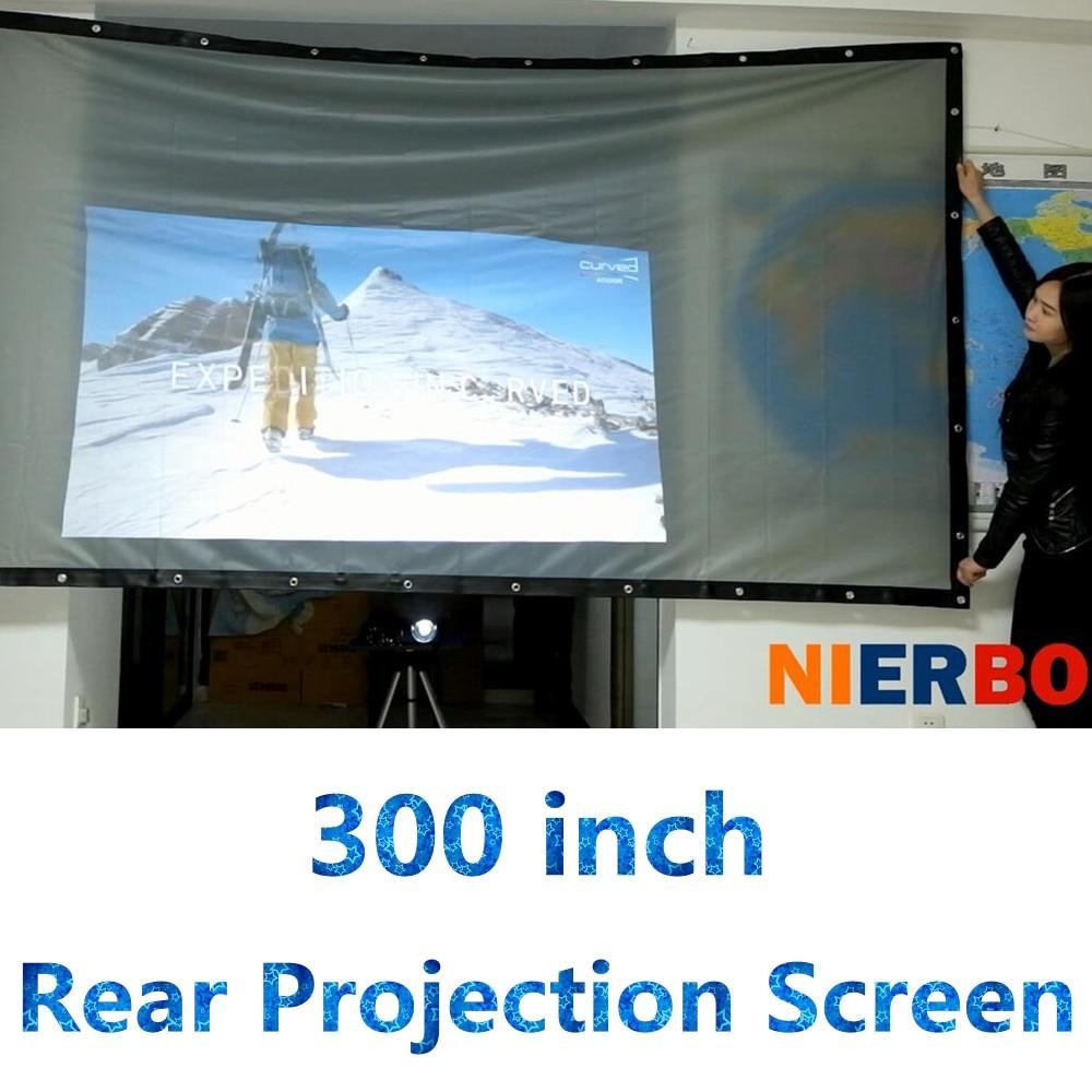 300 Inch Projector Screen 4 3 16 9 Pvc Folding Portable