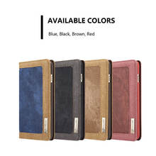 Original  For Apple iPhone 6S Plus Case Magnetic Denim Canvas Wallet Stand For iPhone 6 Plus Cover With Card Holder Phone Bag