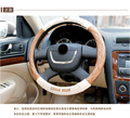 2016 New Sport Genuine leather cowhide Car Steering Wheel Covers Fit Most Car Styling SIZE 37-38CM Auto accessories