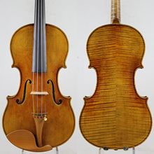 Master Violin!European wood! Antonio Stradivari Copy! Strong and Deep tone!Free Shipping!Despiau Bridge!Dominant 135B Strings цена