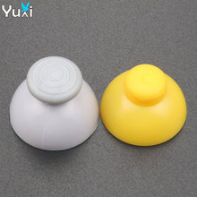 YuXi 2pcs Gray & Yellow Analog Joystick sticks Grip Stick Cap For Gamecube for NGC Controller