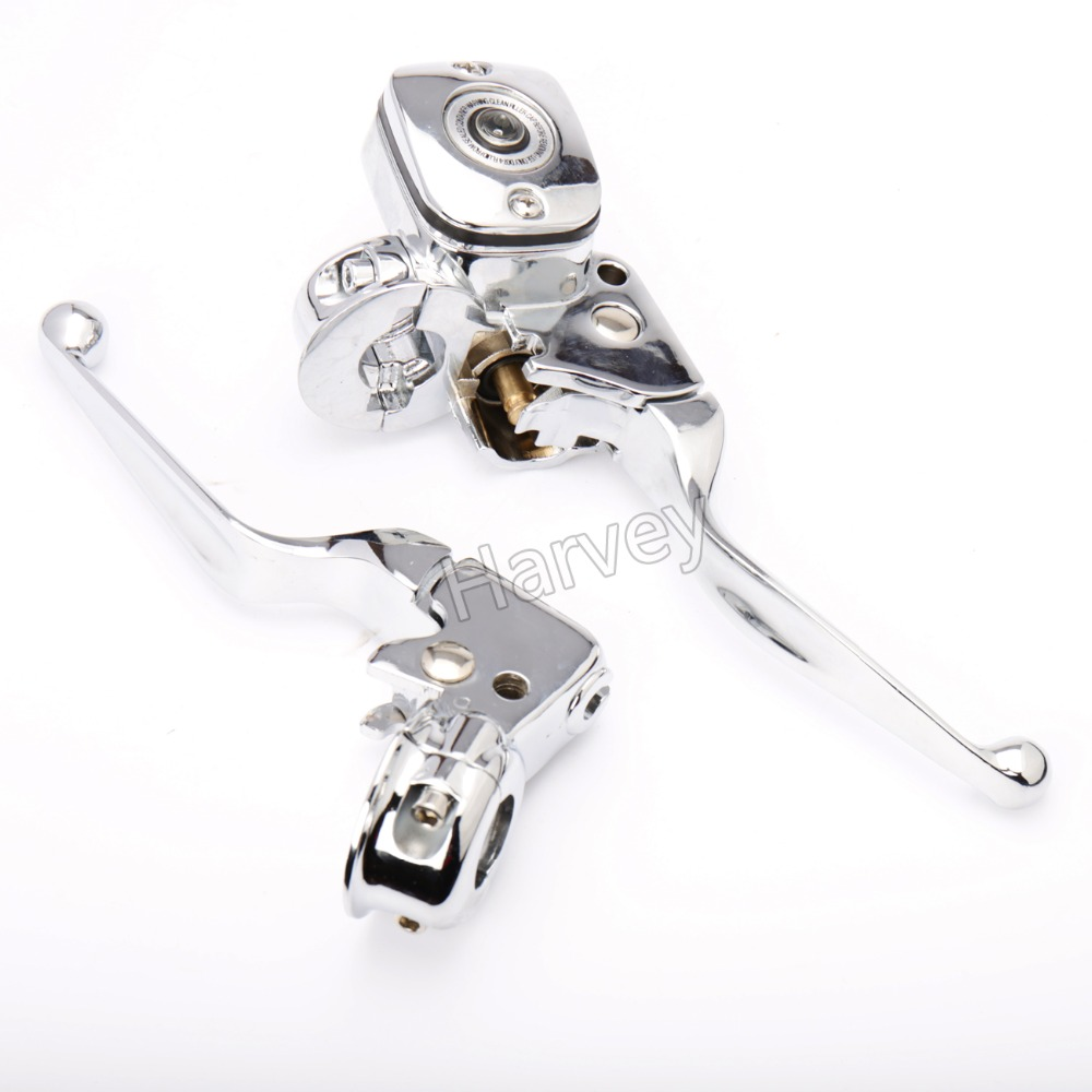 Hand Control Reservoir Brake Clutch Levers For Harley Choppers Cruiser Touring Parts