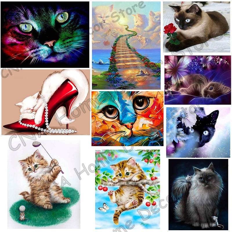Cute Cats Drill sveķu lentes mozaīkas dzīvnieku 5D Diy izšūšana - Māksla, amatniecība un šūšana