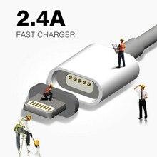 Maxium 2.4A Зарядки Магнитный Кабель Для iPhone 5 5s 5c SE 6 6 s 7 Плюс iPad mini Мобильный Телефон Магнит Зарядное Данные Micro Usb кабель(China (Mainland))