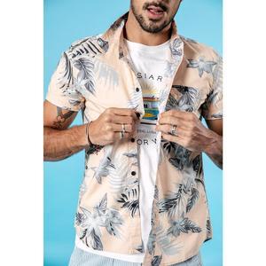 Image 5 - SIMWOOD 2020 été nouveau hawaii manches courtes chemises hommes vacances 100% coton respirant à fleurs chemise de grande taille vêtements 190263