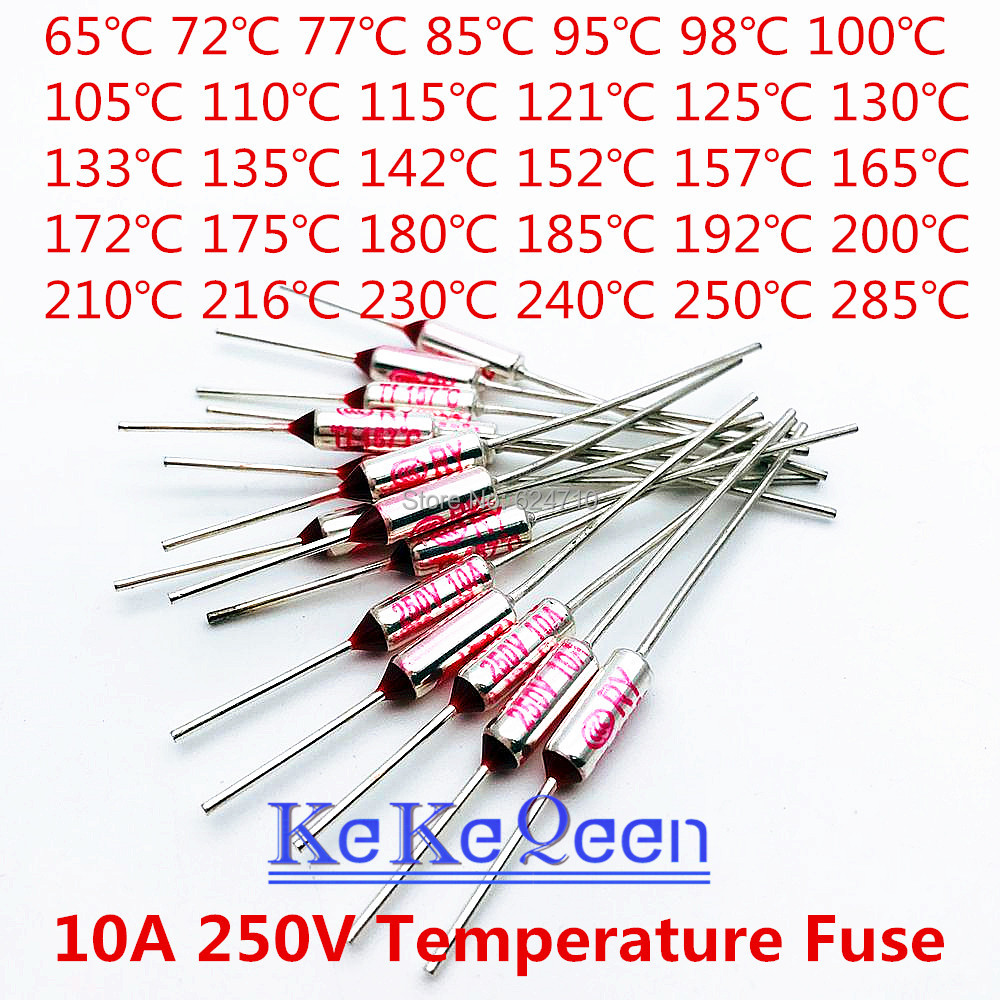 Buy 250v 10a 125c And Get Free Shipping On 10pcs Circuit Cut Off Temperature Thermal Cutoffs Fuse 240c Ac