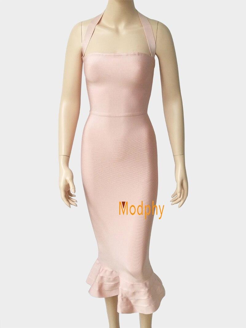 Neue Frauen Partei Bodycon Verband Kleid Sexy Khaki Wein Rot Aus ...
