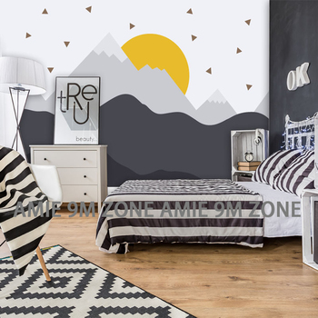 Tuya art wallpapers black and white pattern 3D picture child wallpaper children wall decor wallpapers nursery room mural