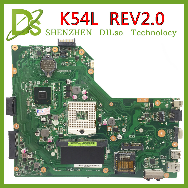 KEFU K54L for ASUS X54H K54L REV 2.0 Notebook K54L laptop Motherboard PC Main board 100% tested motherboard Fast shipping for asus k42f rev 3 3 gma hd usb2 0 hm55 pga989 ddr3 vram main board k42f notebook motherboard p42f 100