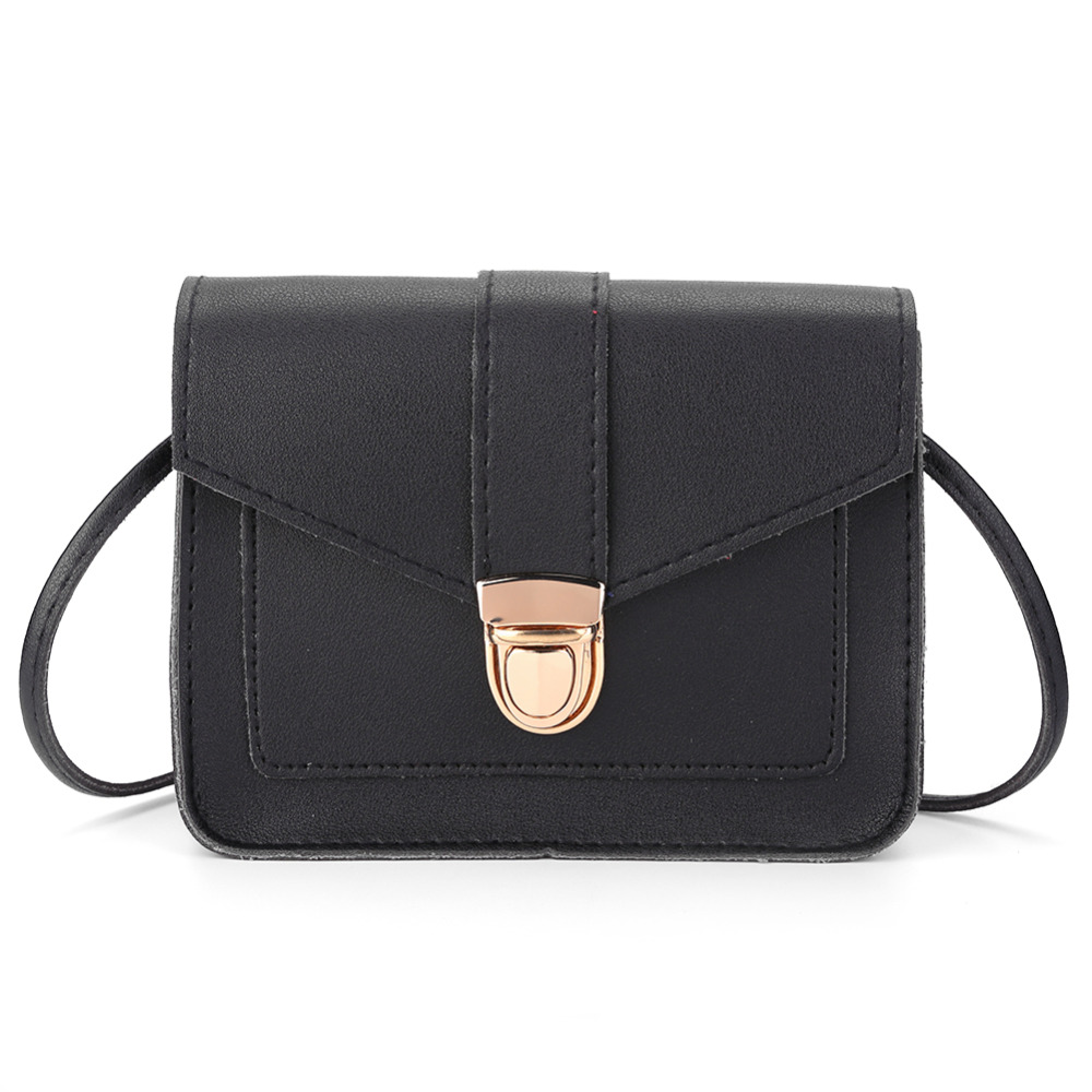 Fashion Small PU Leather Bags Women Shoulder Bag Female Crossbody Bags for Ladies 2018 Clutch Purse bolsa feminina Black HandbagFashion Small PU Leather Bags Women Shoulder Bag Female Crossbody Bags for Ladies 2018 Clutch Purse bolsa feminina Black Handbag