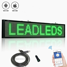 12V Green P5 SMD WIFI Programmable Car bus Led Sign Scrolling Message Display Board with Car rear window sucker installed цена