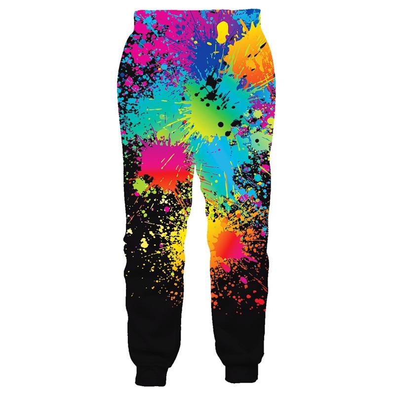 3D Mens Summer Trousers Compression Pants Hip Hop Joggers Sweatpants Men/Women Funny Cartoon Sweatpants Elastic Waist Pants