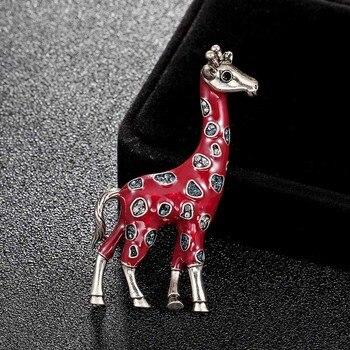 Moda de nova chegada girafa animal Esmalte broches broches jóias para homens presentes dos miúdos Amarelo Marca das mulheres do vintage pin broche
