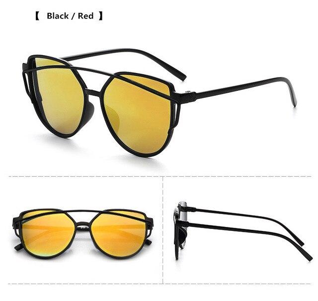 ZXWLYXGX New Cat Eye Mirror Goggle Sunglasses Women Brand Triangle Vintage Female New Tide Sun Glasses oculos de sol