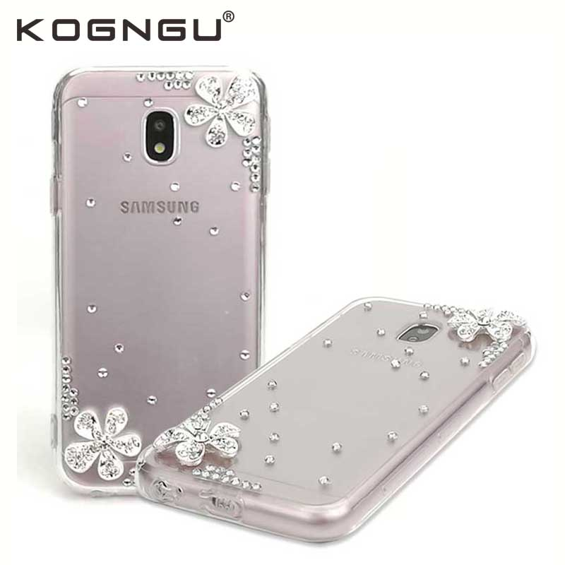 Kogngu Crystal Cases for Samsung Galaxy J3 2017 Case Diamond Silicone Bumper Cases for Samsung J3 2017 Cover Cell Phone Shell