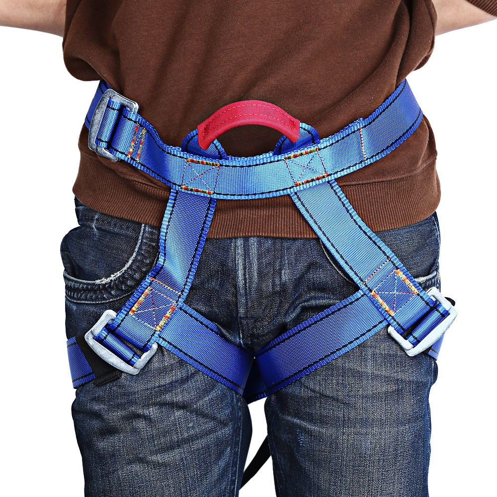 Outdoor Harness Bust Seat Sitting Belt For Outdoor Rock Climbing Rappelling Equipment Blue Camping Edc Survival