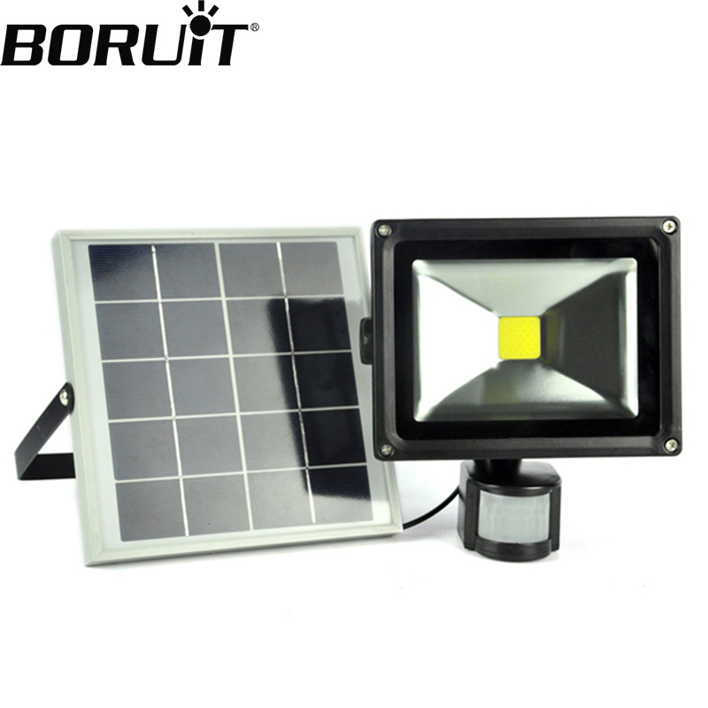 Boruit 20W Solar SMD LED Spotlight With Dark Sensor Wall Lamps Floodlight Outdoor Path Emergency Waterproof Light For Garden super bright 20w led solar panel floodlight remote control outdoor waterproof garden light path wall outdoor emergency lamp