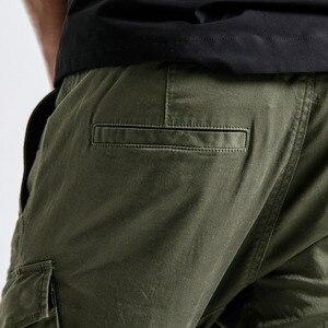 Image 5 - SIMWOOD חדש 2019 מכנסי קזואל גברים אופנה היפ הופ Streetwear כותנה מותג בגדי קרסול אורך מכנסיים זכר מכנסיים גברים 190056