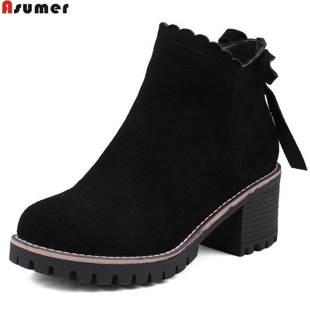 Chaussures automne à bout rond à fermeture éclair noires femme N789x6Z