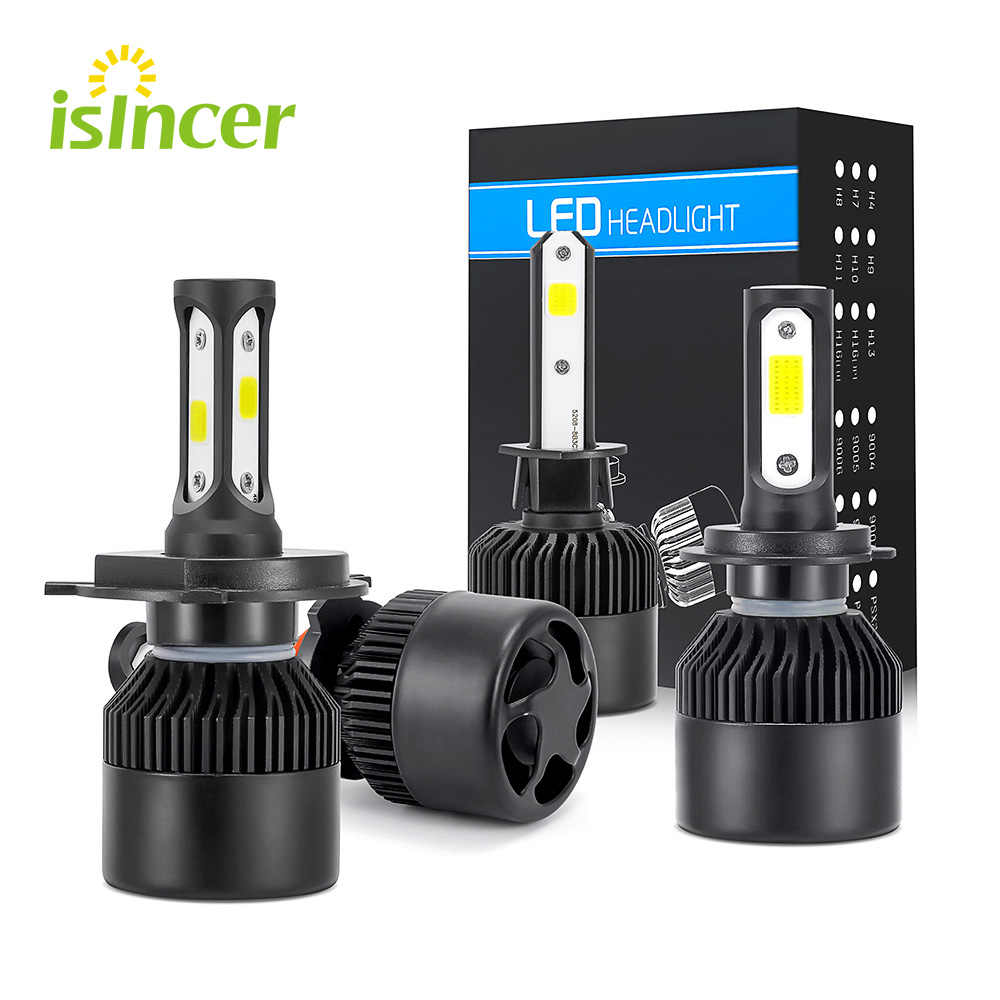 Auto Car H7 LED Headlights H4 LED Head Light 12V COB Bulbs Hi Lo beam LED H4 H7 White Automobiles Near Far Light 6500K 8000LM