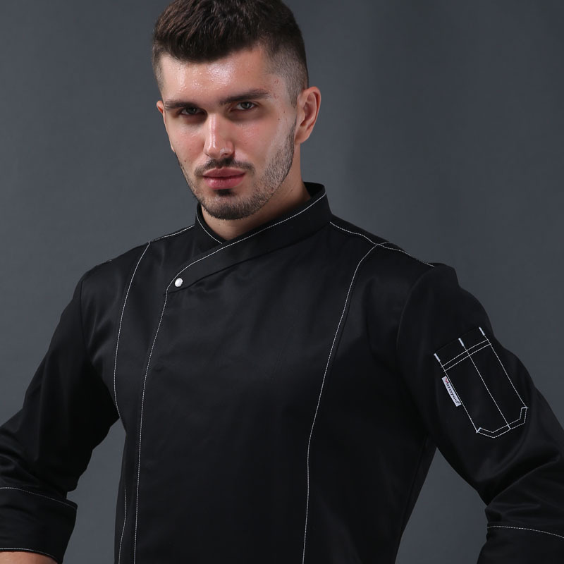 Food Service Plus Size Quality Head Chef Jacket Restaurant Uniforms Shirts Kitchen Lady Chef Shirts  Unisex Restaurant Uniforms