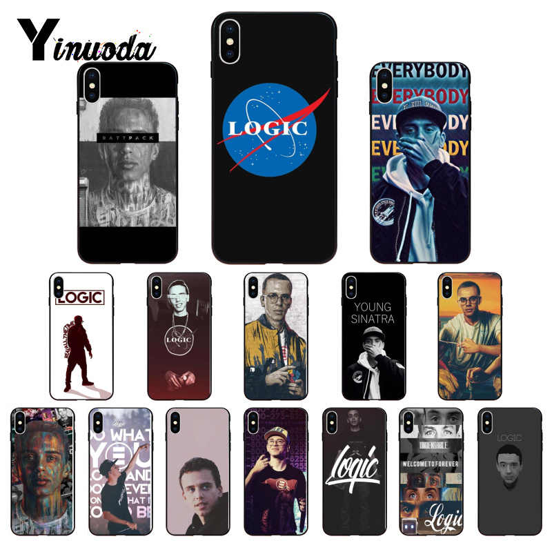 Lógica Yinuoda rapper High-end de Luxo Acessórios do telefone para o Caso do iphone 8 7 6 6 S Plus X Xs xr XsMax 5 5S SE 5c Coque