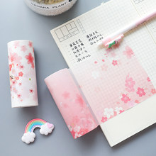 1pc Random 5M*10cm Japan Pink Sakura Paper Adhesive Tape DIY Scrapbooking Sticker Label Masking Tape Photo Album Diary Decor(China)