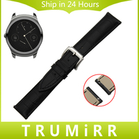 20mm 22mm 1st Layer Genuine Leather Watch Band Quick Release Strap For Ticwatch 1 46mm Ticwatch