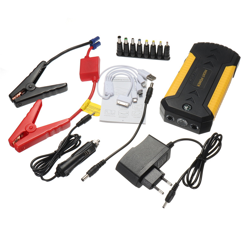 EU Plug 88000mAh Car Jump Starter 4 USB Emergency Charger Booster Power Bank Battery Durable Quality jump starter car styling uk us eu au 88800mah multi functional car jump starter emergency charger booster power bank battery