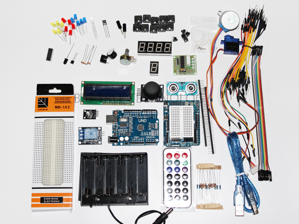 ФОТО UNO R3 starter kit for Arduino - UNO R3/ Step Motor /Servo/ 1602 LCD/ Breadboard/ Jumper Wire/ Joystick/ Relay