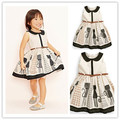 2015 new style sleeveless kids clothes Charlie little cat girl dresses baby girl's clothes