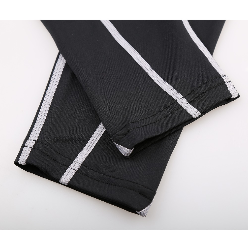 d3997314c1 Men's Sports Tights Running Compression Pants Gray Line Leggings  Bodybuilding and Fitness Sportswear Highly Competitive Price-in Running  Tights from Sports ...