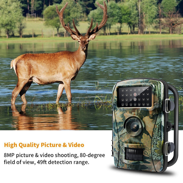 Night Vision Trail Camera Game Hunting Camera 8MP 720P HD No Glow Infrared Outdoor Surveillance Wildlife Cameras Trap
